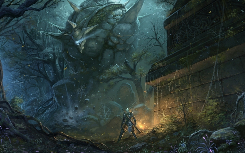 fantasy art golem artwork warriors 1920x1200 wallpaper 800x500