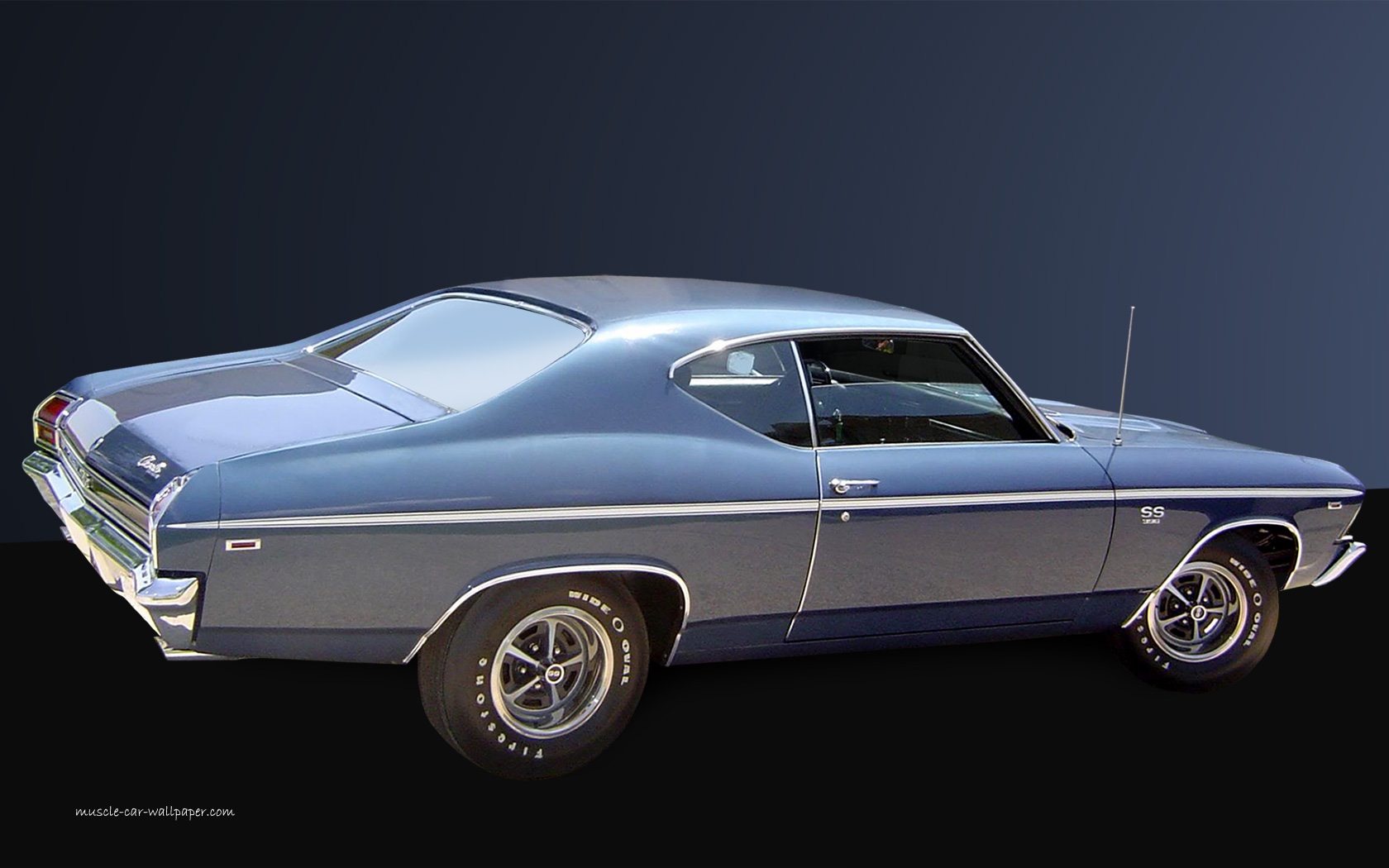 Chevelle Ss Wallpaper 1969 Blue Coupe 1680x1050 05 1680x1050