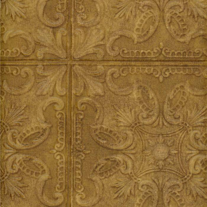 Wallpaper Old Fashion Classic Tin Ceiling Tile Look Faux Copper 10 700x700