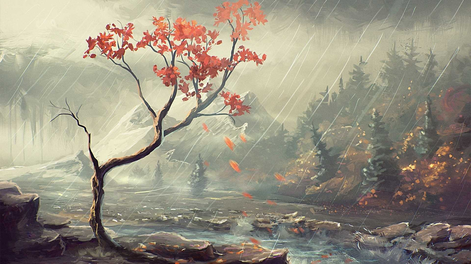 Japanese Landscape Painting Wallpapers   Top Japanese 1920x1080