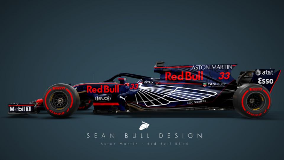 94 Red Bull Racing Rb14 Wallpapers On Wallpapersafari