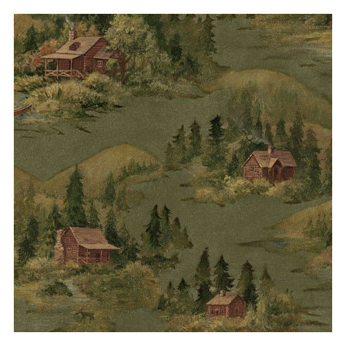 Walls Lodge D cor Cabin Scenic Wallpaper   Walmartcom 500x500
