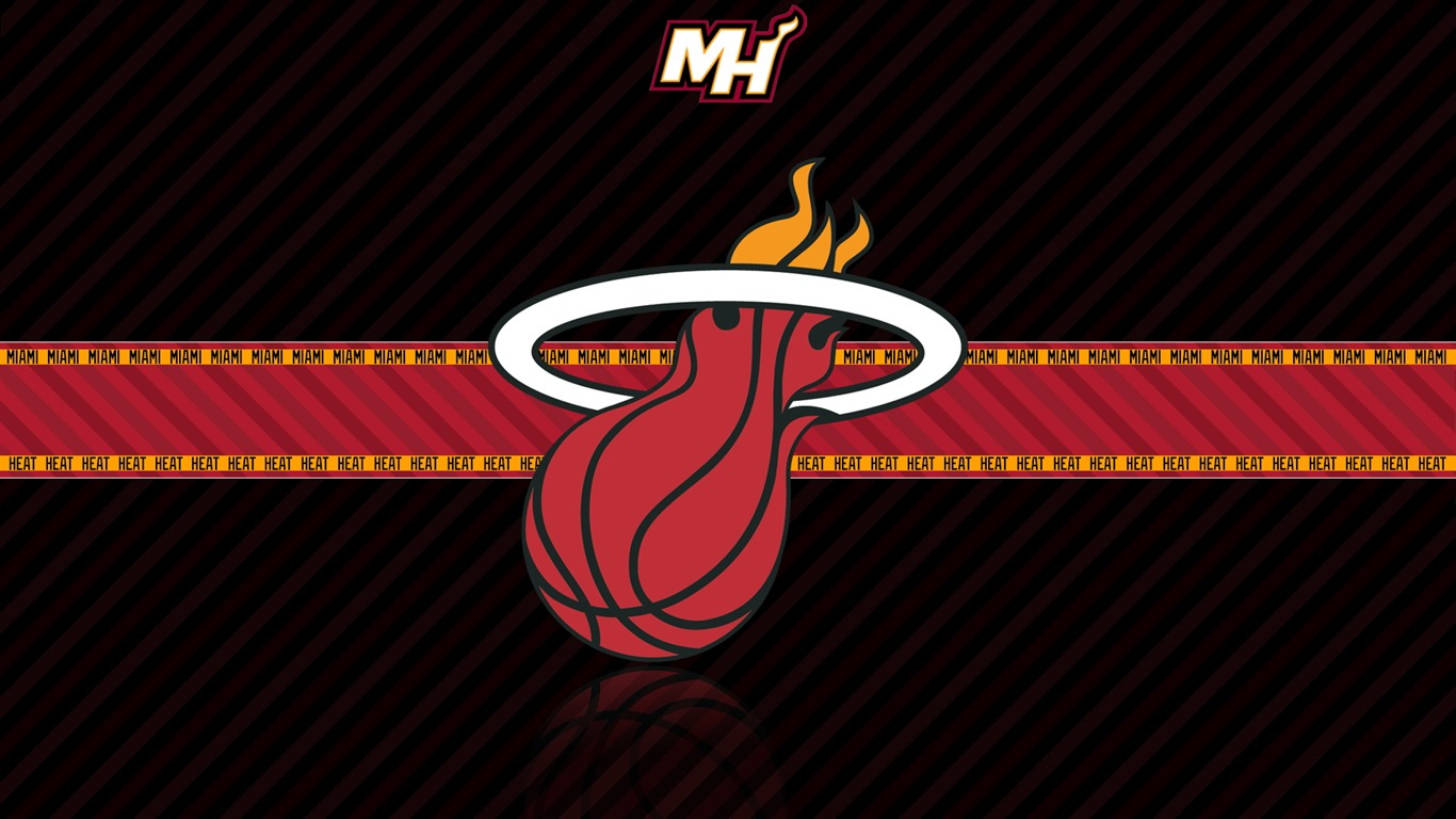 NBA Miami Heat Team Logo Widescreen HD Wallpaper 1366x768