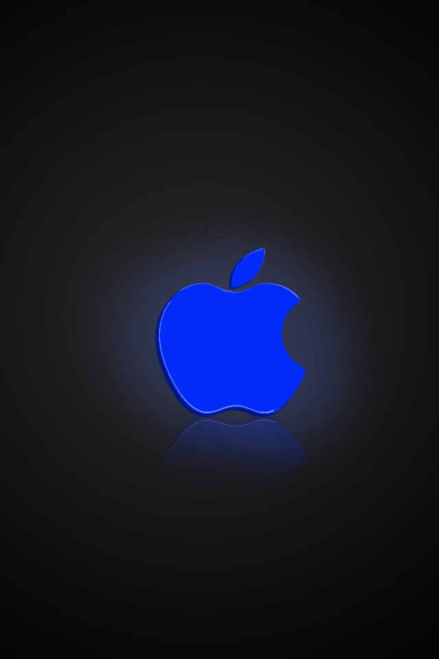 iphone wallpaper apple blue glow by TinyIphone 640x960
