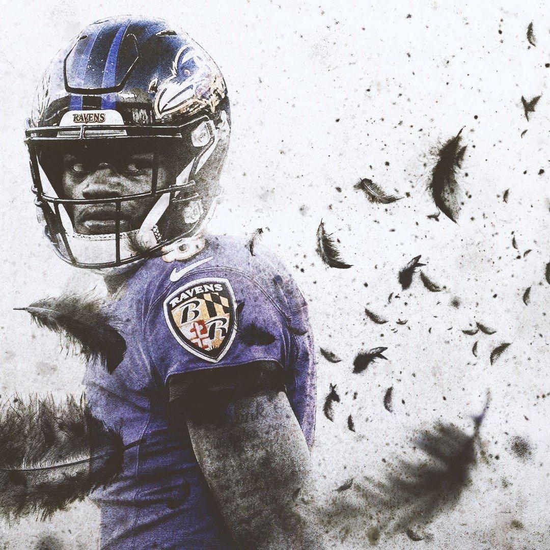 Lamar Jackson Baltimore Ravens Wallpaper The Pick 6 1080x1080