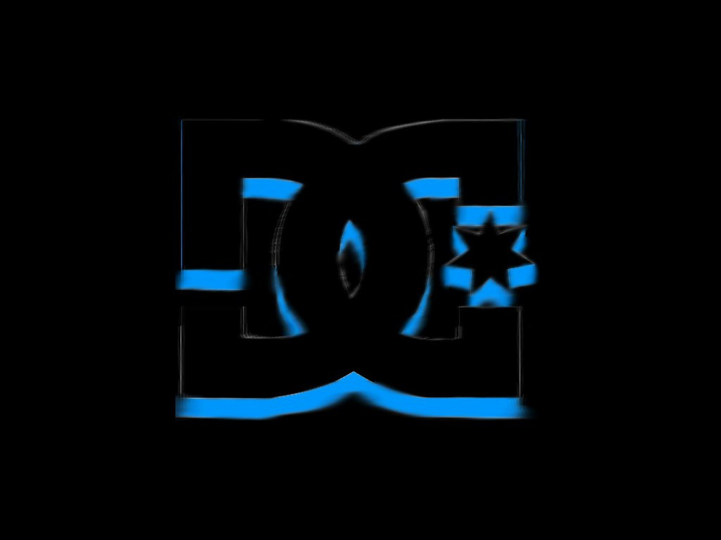 DC Shoes Black and Blue Logo in Black Wallpaper HD Desktop 1024x768