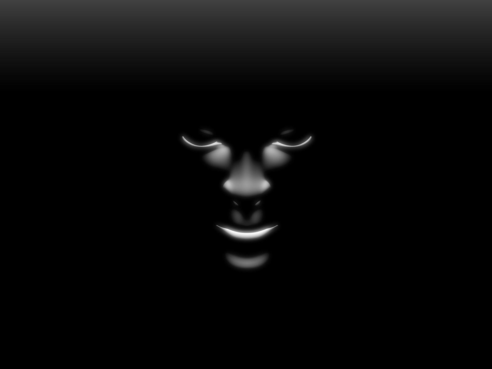 Black Shadow Face   Black Wallpaper 28305464 1600x1200