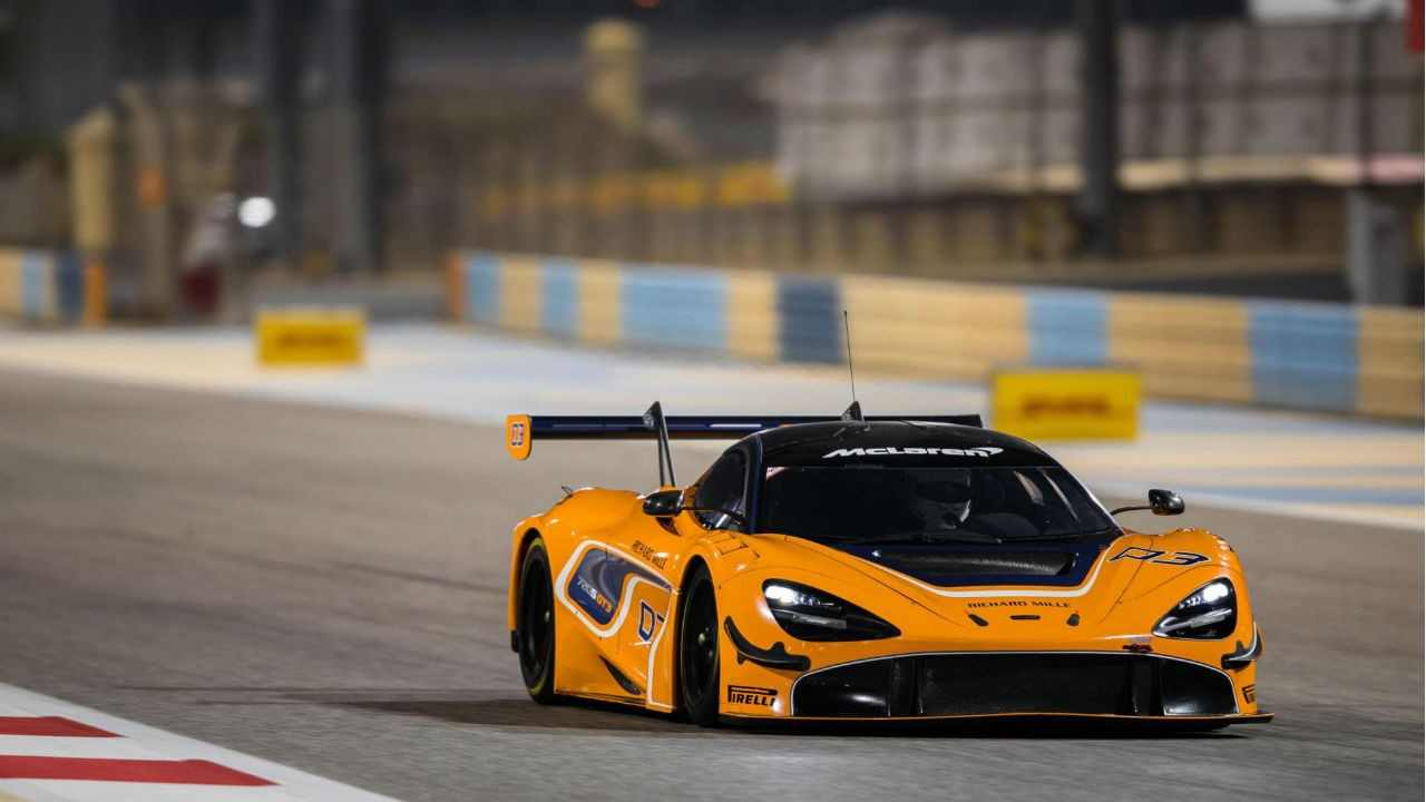 McLaren 720S GT3 background Yellow McLaren 720S GT3 1280x720 23658 1280x720