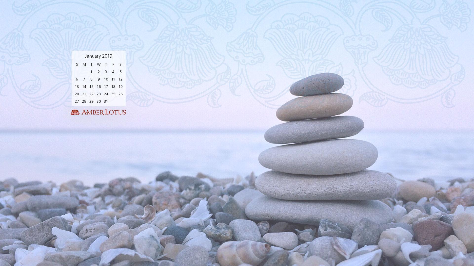 Desktop Wallpaper Calendar January 2019 to Download 1920x1080