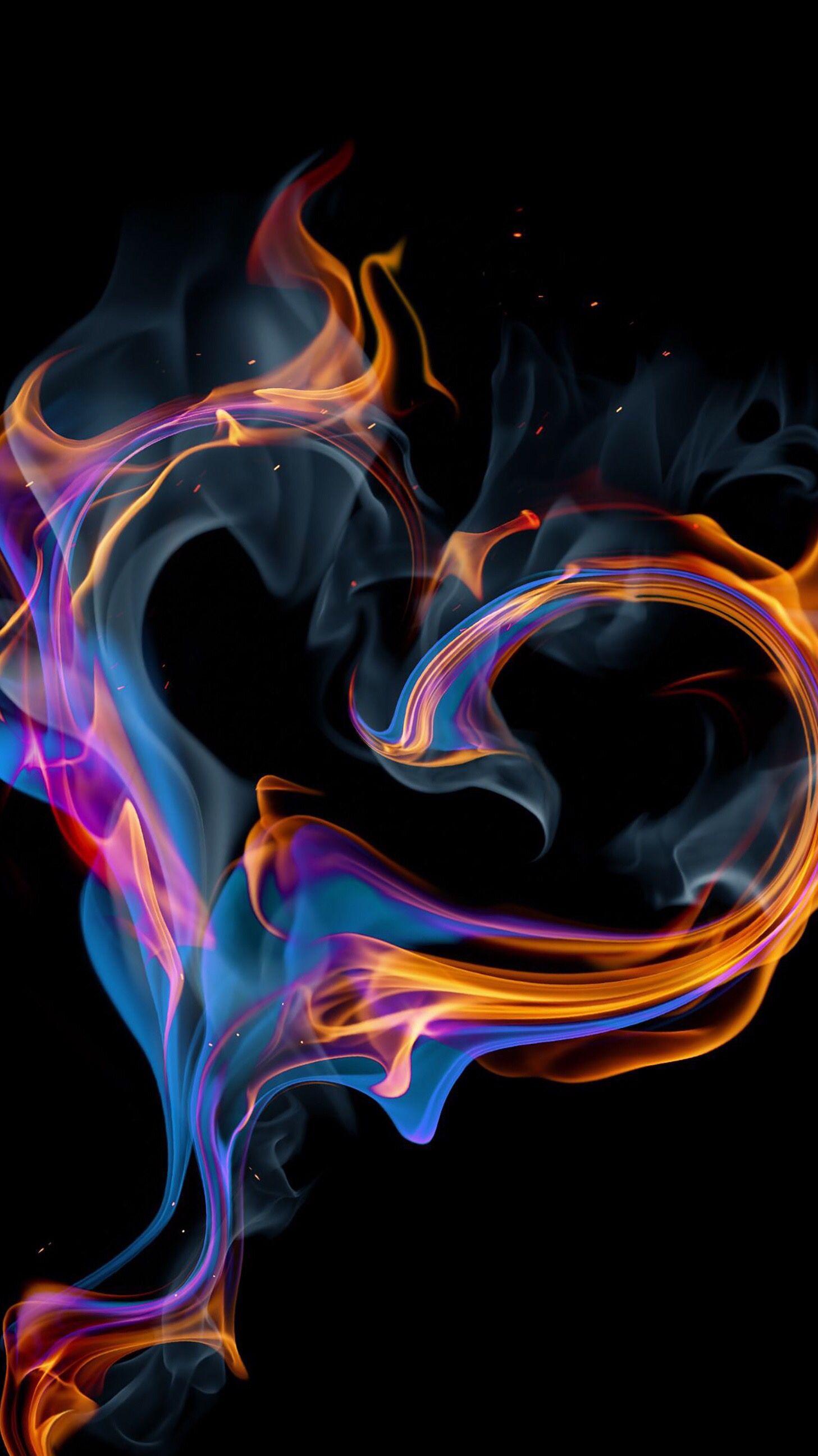 Hot Background Fire heart Heart wallpaper Fire art 1457x2592