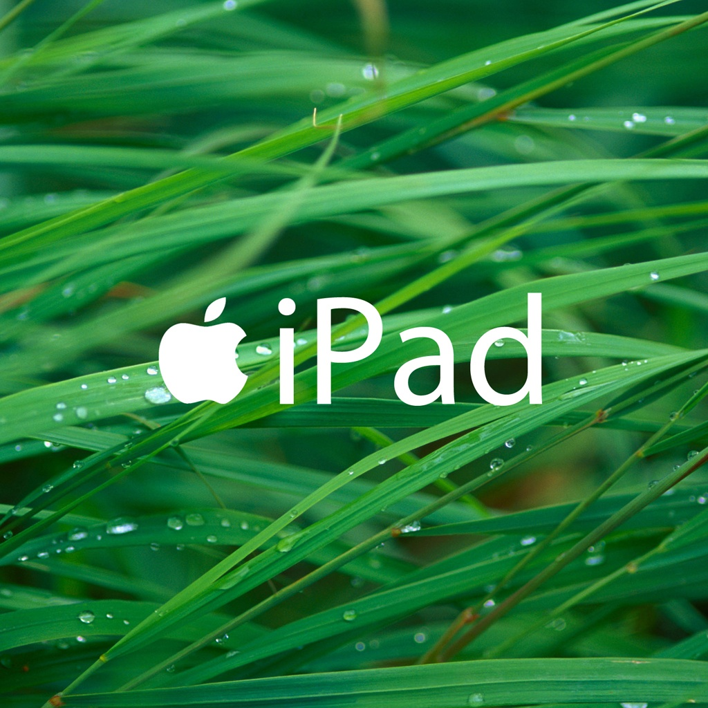 Apple Grass With IPad Text WallpapersApple Wallpapers 1024x1024