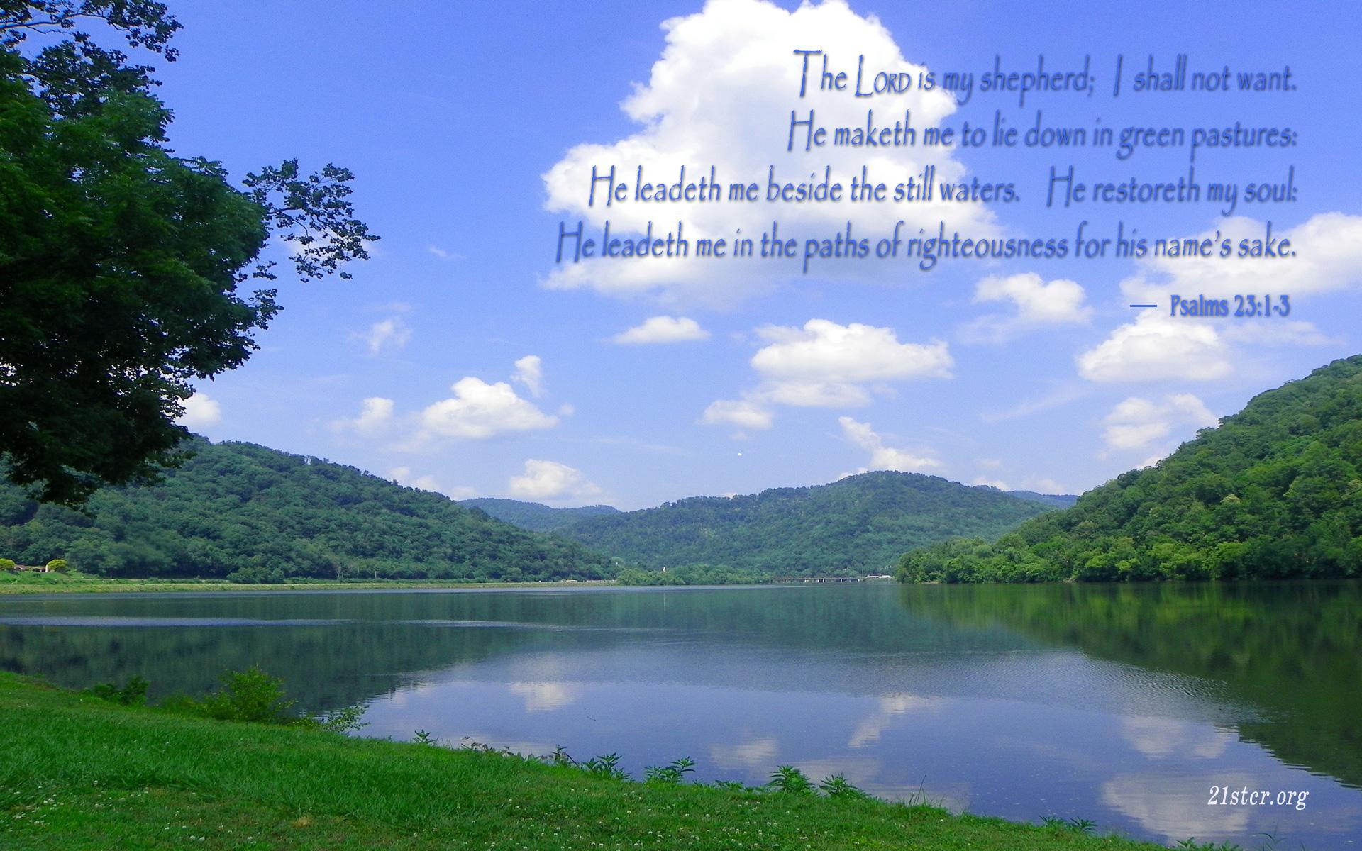 Psalm 23 Wallpaper Wallpapersafari