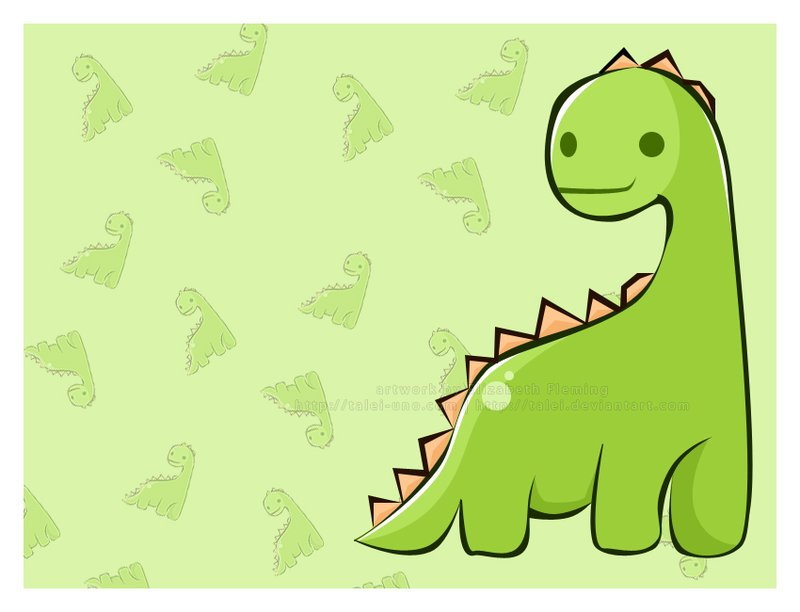Cute Dinosaur Background Mr dinosaur by talei 800x612