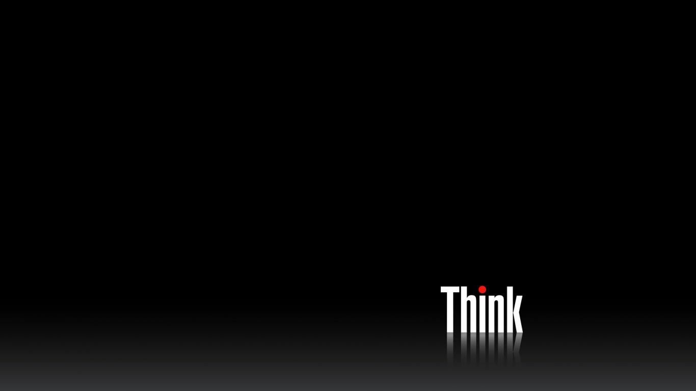 1366x768 Think Black desktop PC and Mac wallpaper