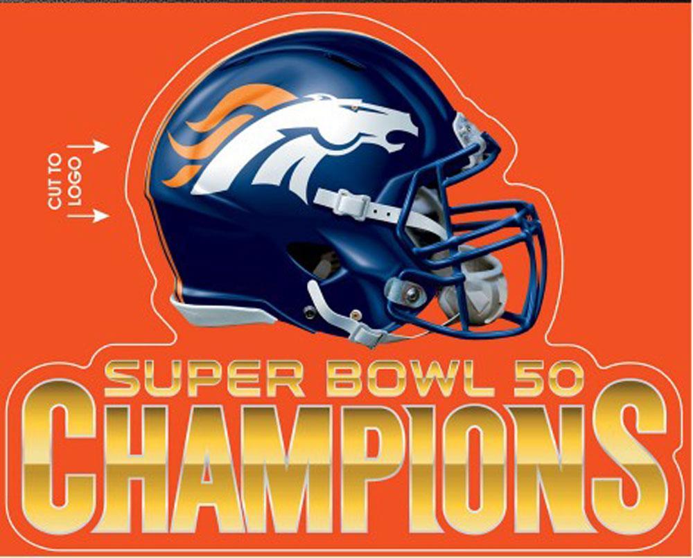 3984 Denver Broncos 2016 Super Bowl 50 Champions Multi Use Decal 1000x806