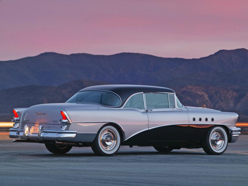 1955 Buick Roadmaster of Jay Leno   Rear Angle   Twilight 1024x768