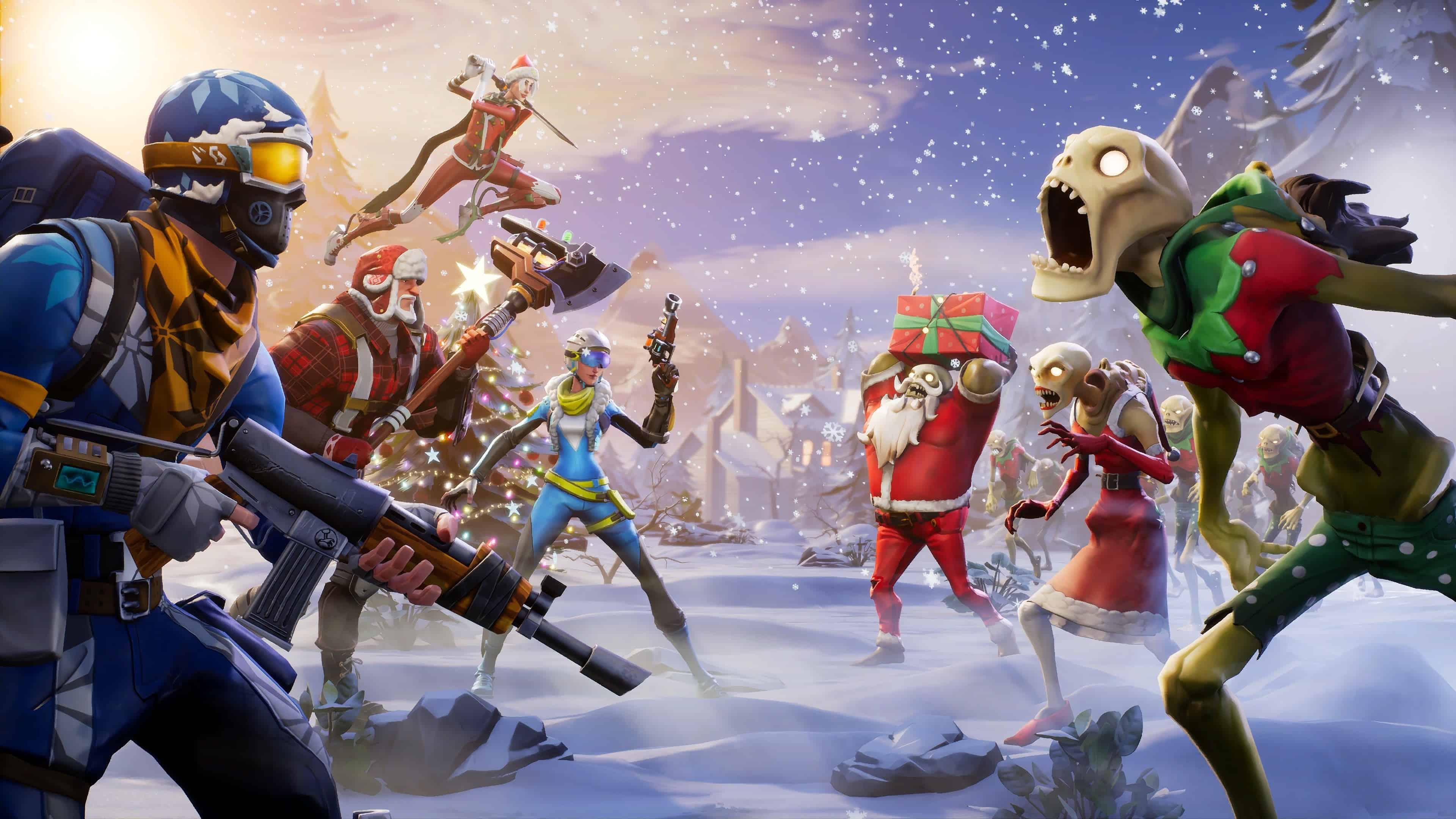 Fortnite Winter Season UHD 4K Wallpaper Pixelz 3840x2160