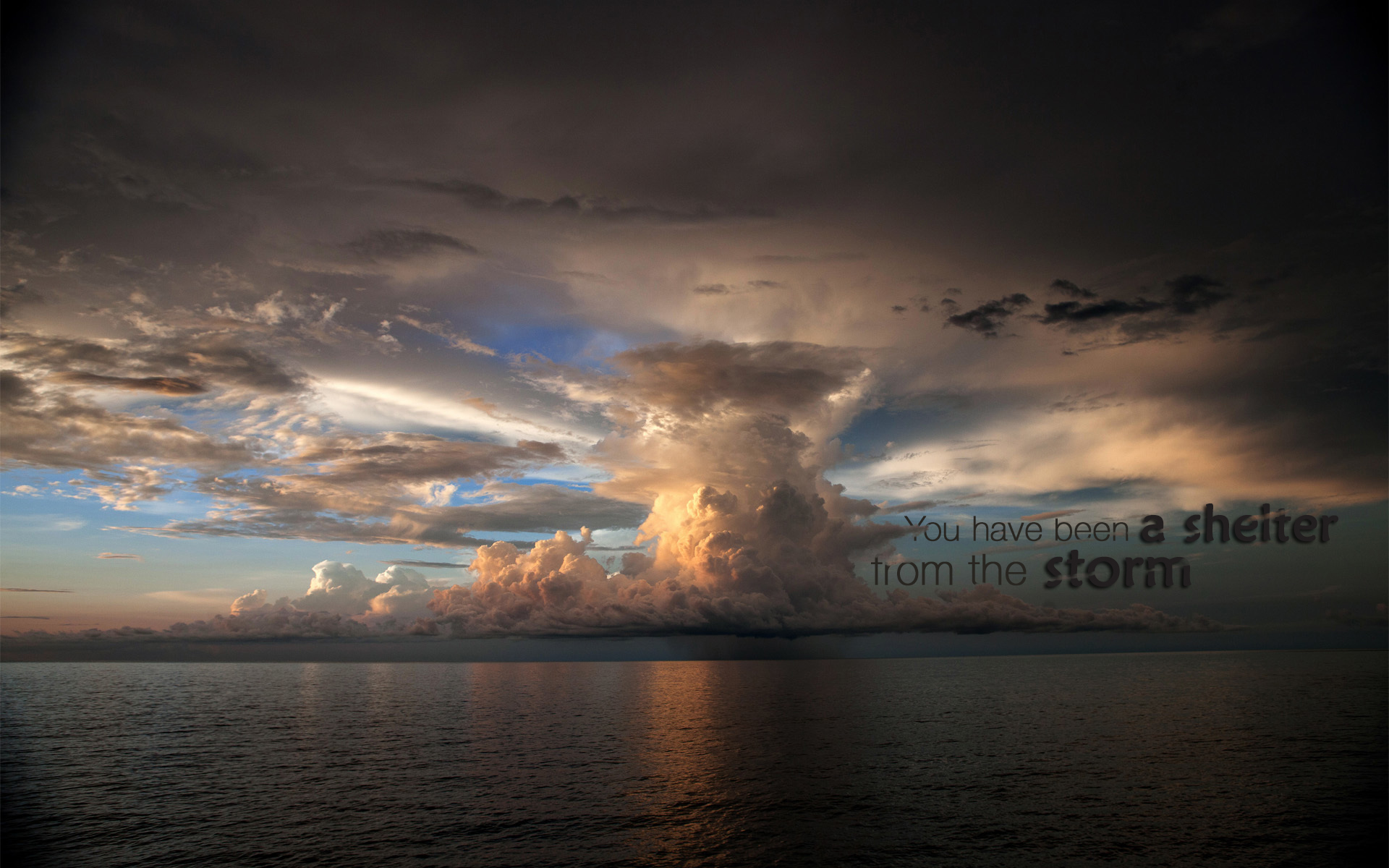 christian shelter wallpaper clouds sea rain storm 1920x1200
