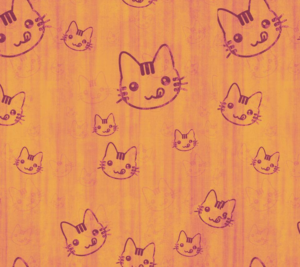 Cute cartoon cat wallpaper wallpapersafari - Cartoon cat background ...