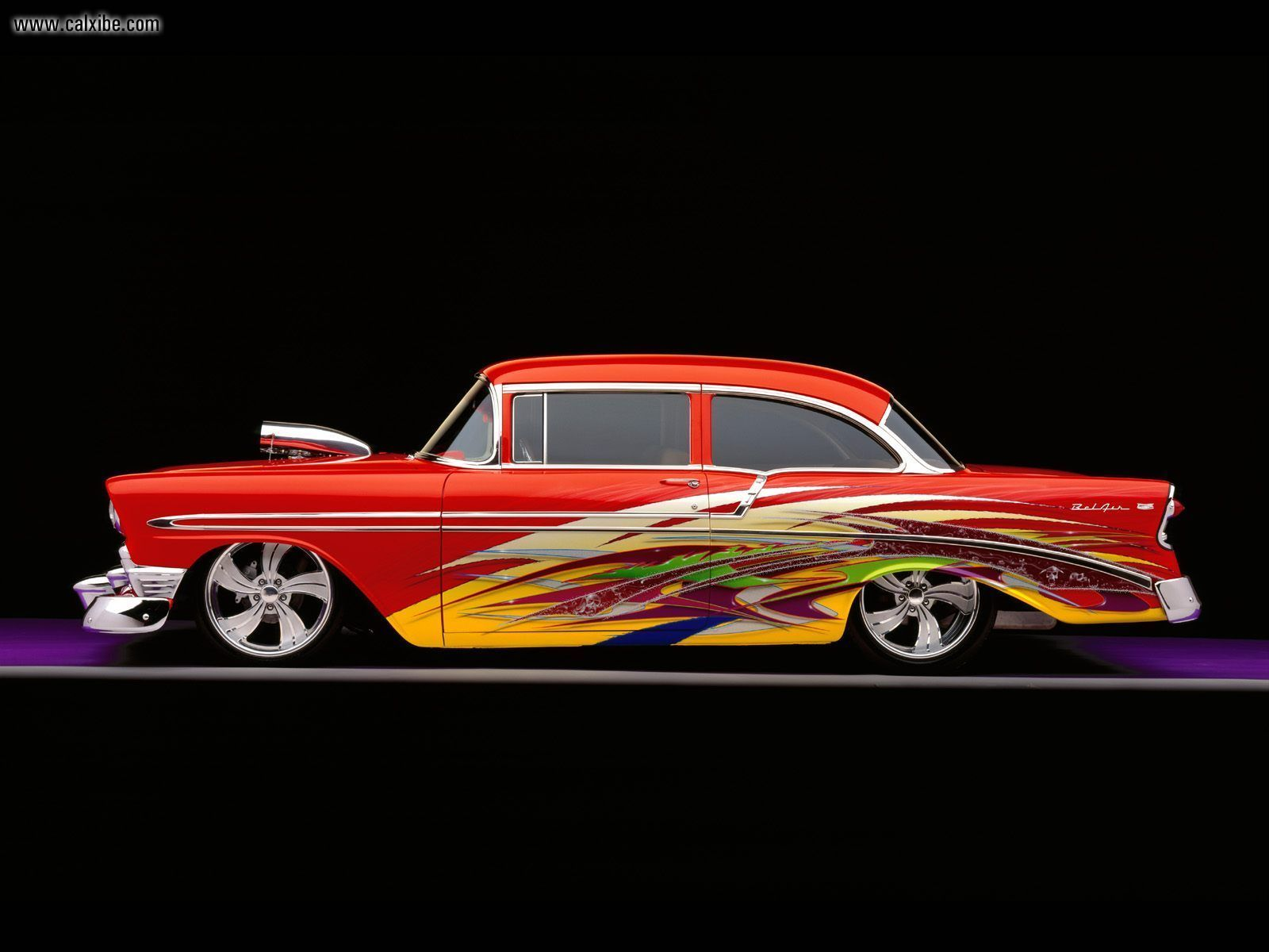 Cars 1956 Custom Chevy Bel Air desktop wallpaper nr 18406 1600x1200