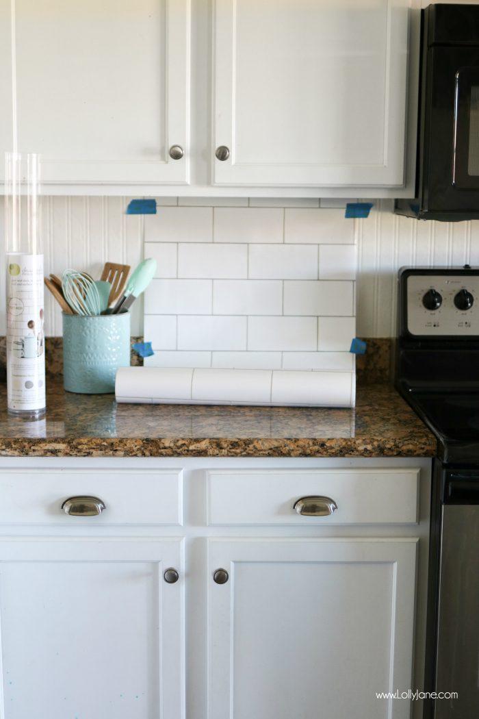 Faux Subway Tile Backsplash Wallpaper Turquoise Kitchen Walls 700x1050