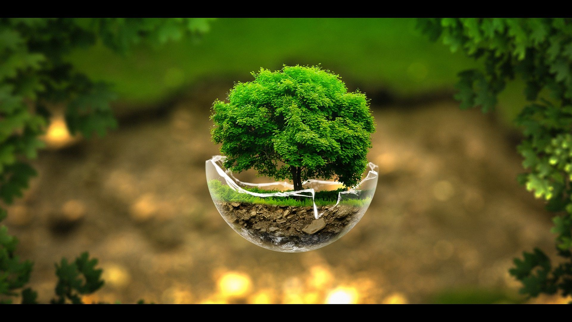 Surreal Nature Sphere HD Wallpaper FullHDWpp   Full HD Wallpapers 1920x1080