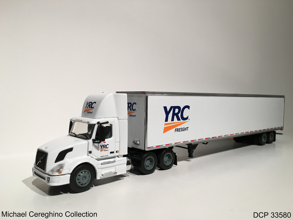 Diecast replica of YRC Freight Volvo daycab DCP 33580 Flickr 1024x768
