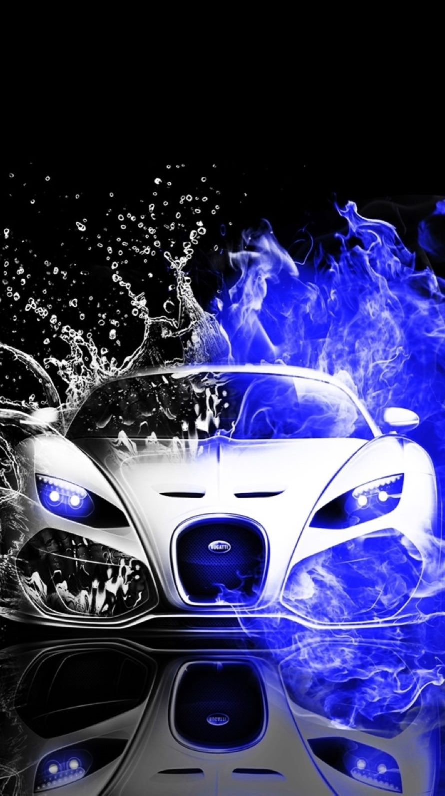 Cool Cars blue water black and white wallpapersc iPhone6 890x1590
