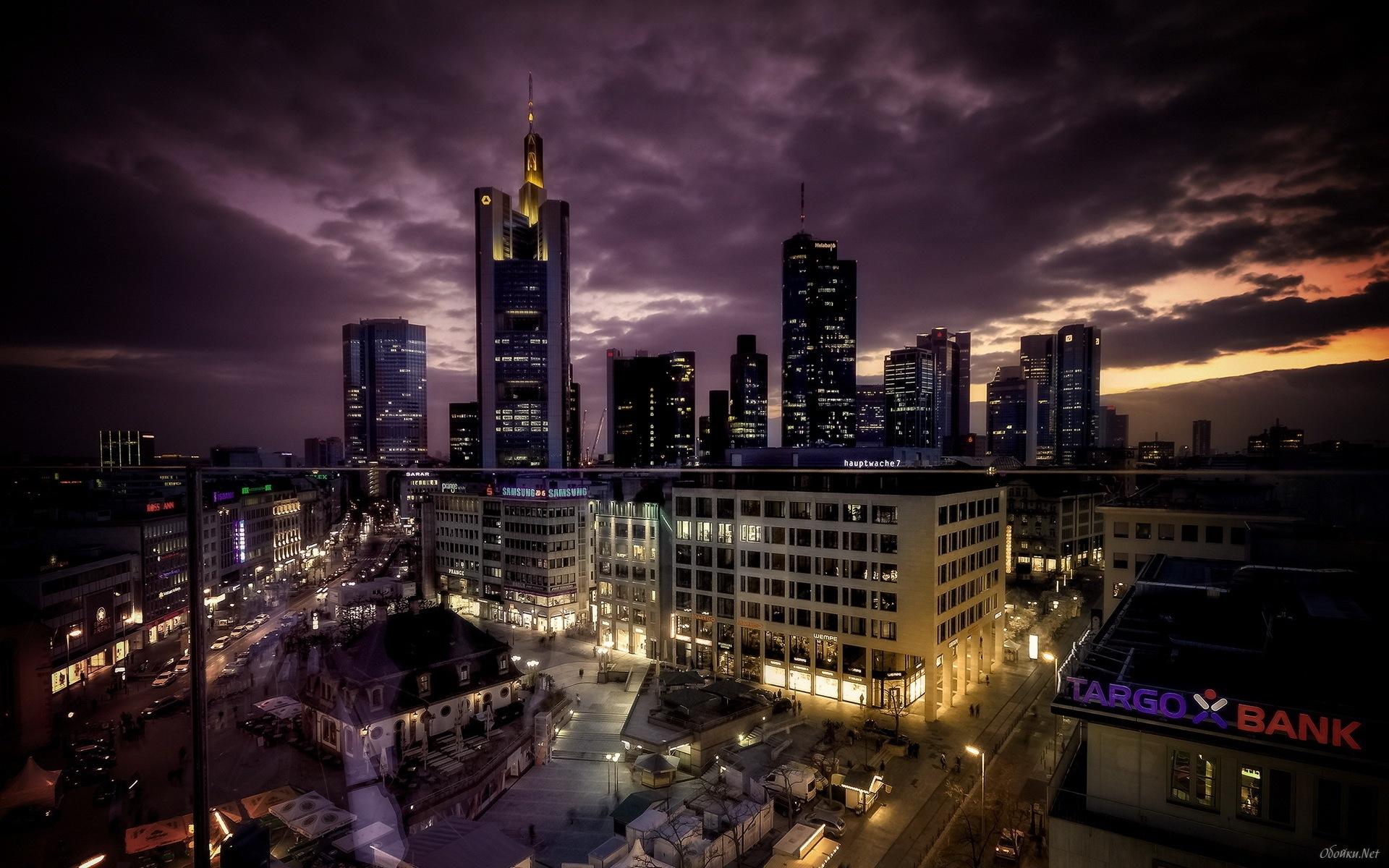 Night city landscape HD Desktop Wallpaper HD Desktop Wallpaper 1920x1200
