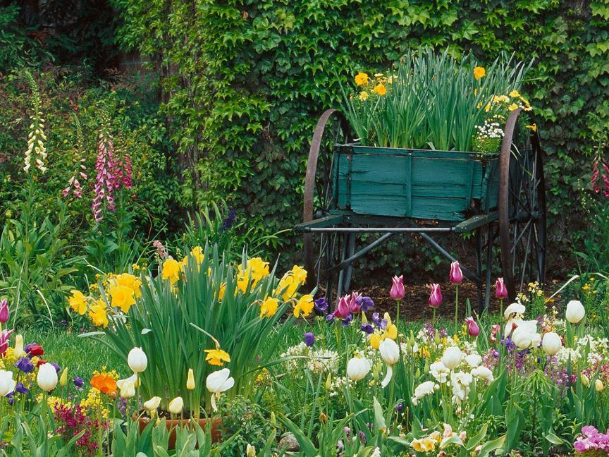 Spring Flower Garden Desktop Backgrounds   Pixdaus 864x648