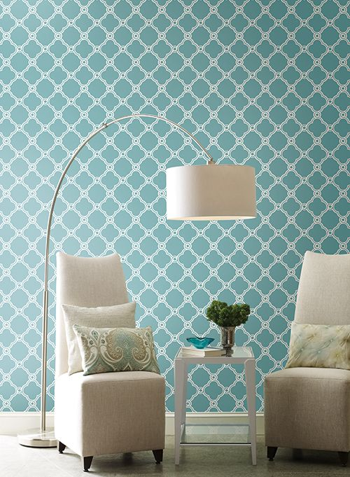 by Wallcoverings for Less on Lattice   Trellis Wallpaper Pinter 500x681