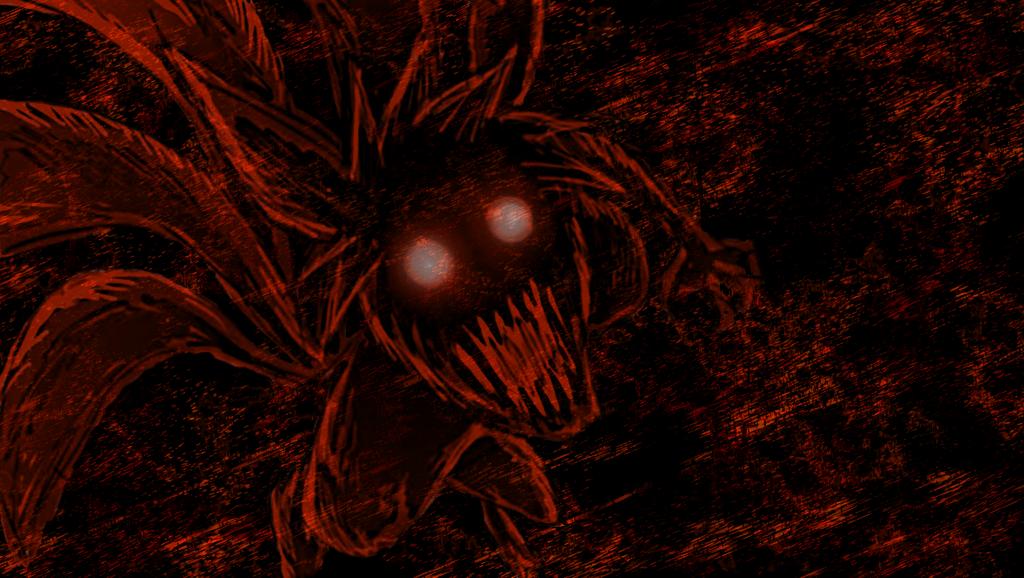 Nine Tailed Fox Demon Wallpaper by NinjaButterflyx 1024x578