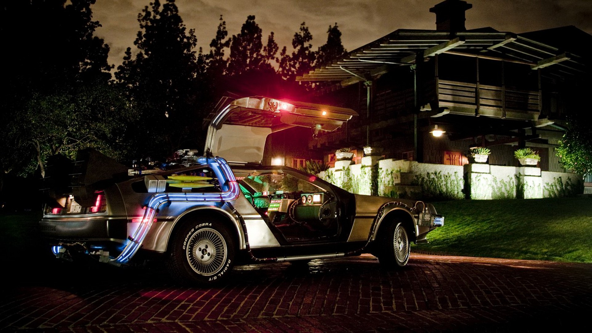 DeLorean Back Wallpaper 1920x1080 DeLorean Back To The Future 1920x1080