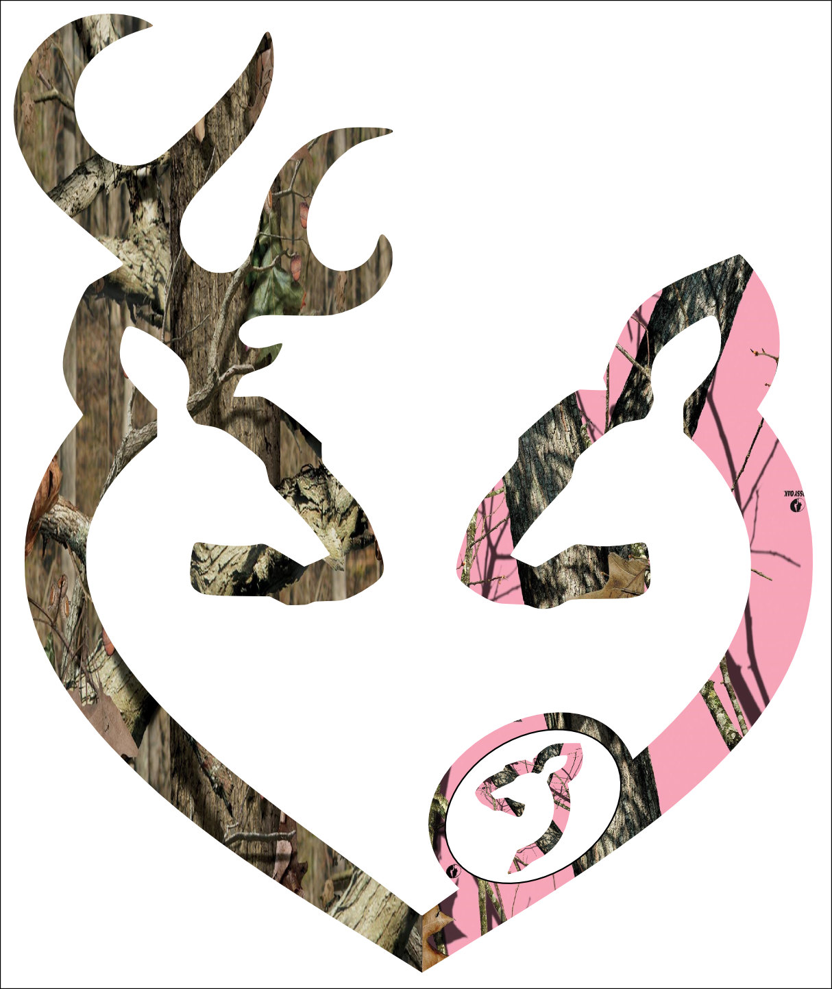 Camo Browning Decal Browning style camo and pink 1214x1443