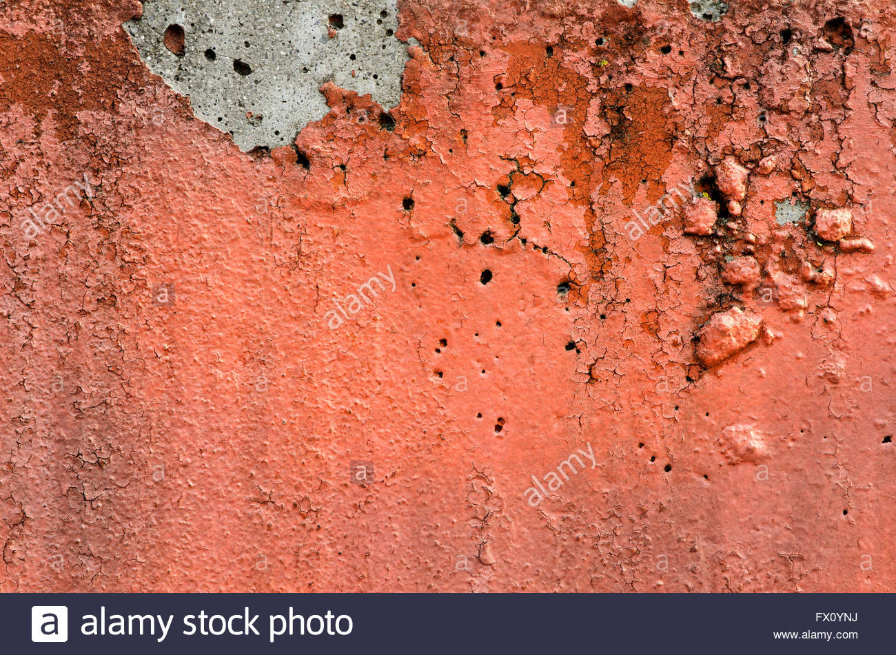 Orange black white painted chappy wall texture background Stock 1300x951