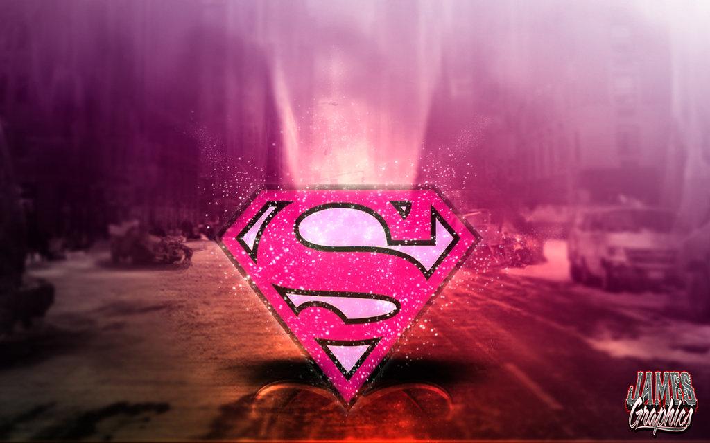 Superwoman Sign Wallpaper Supergirl logo pink wallpaper 1024x640