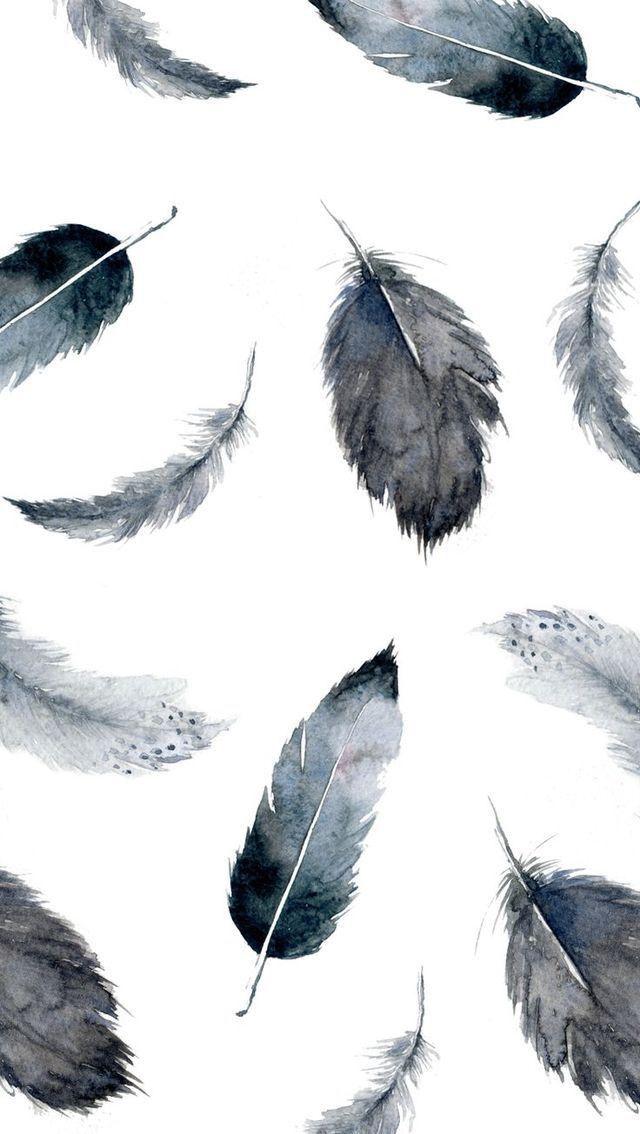 44 Feathers Iphone Wallpaper On Wallpapersafari