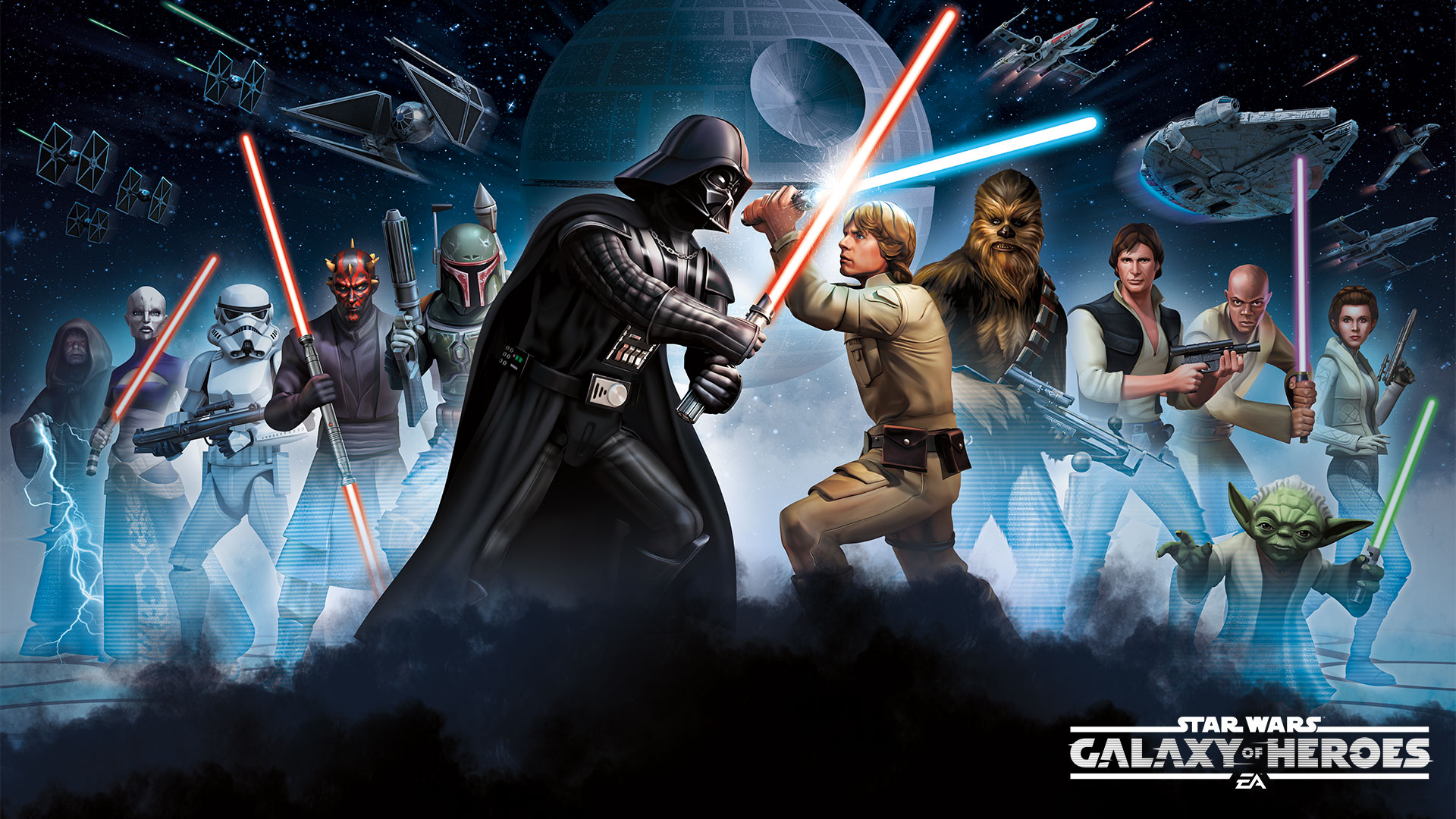 Free Download Star Wars Galaxy Of Heroes Hd Wallpapers And Background Images 1920x1080 For Your Desktop Mobile Tablet Explore 27 Star Wars Galaxies Background Star Wars Galaxies Wallpaper Star