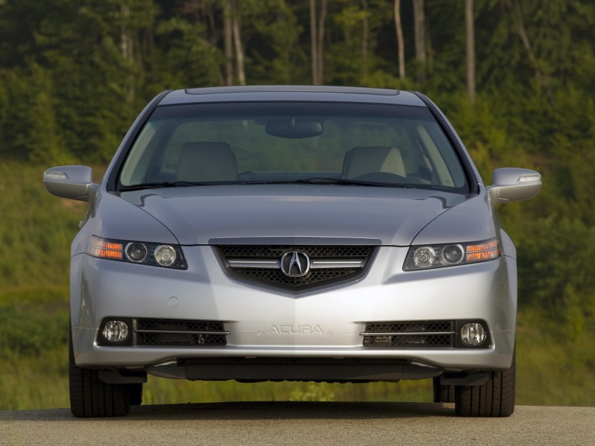 Acura Tl 2007 Silver Metallic Front View Style Cars Nature 867x650