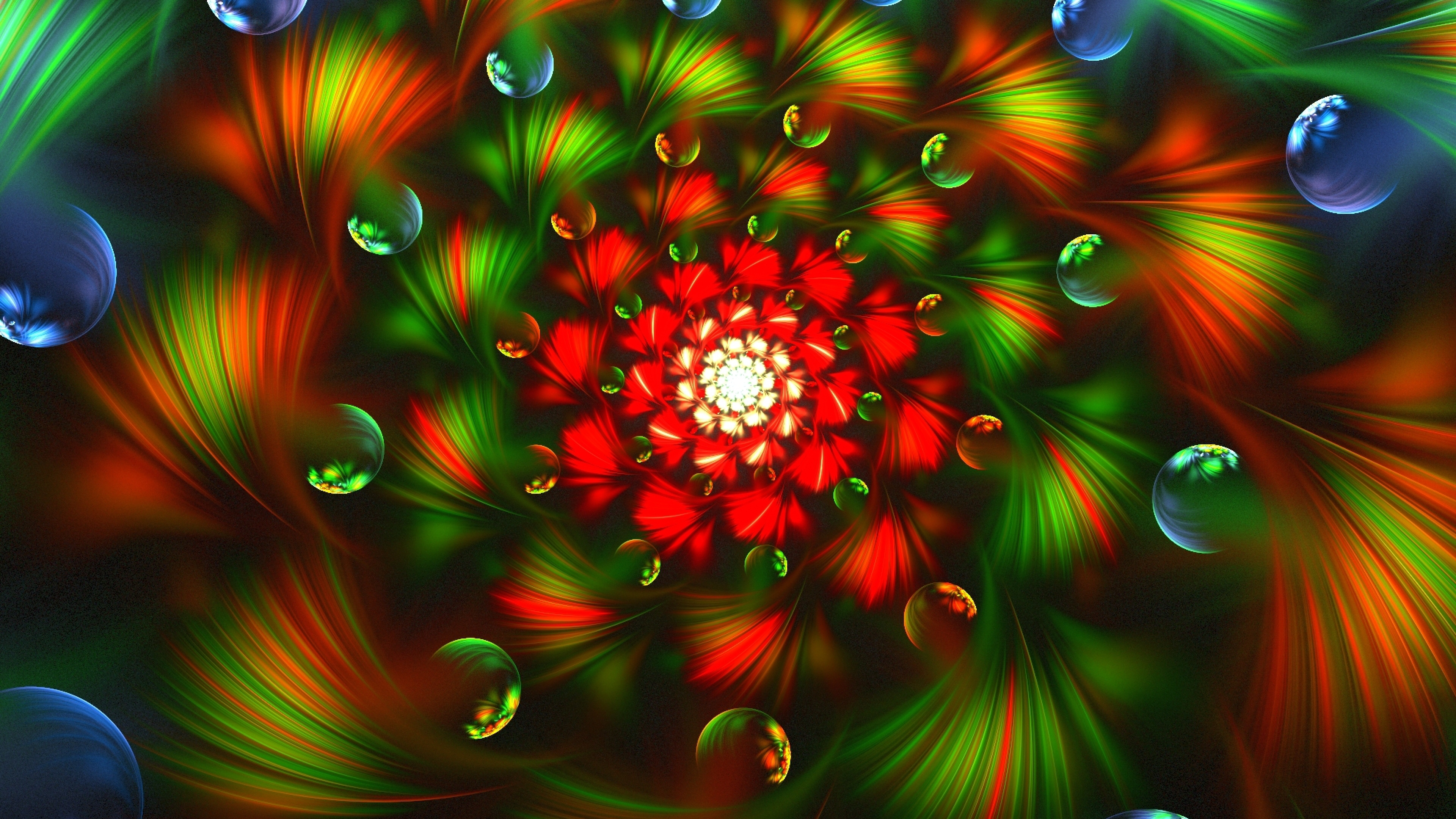 Wallpaper 3840x2160 3d abstract fractal colorful bright 4K 3840x2160