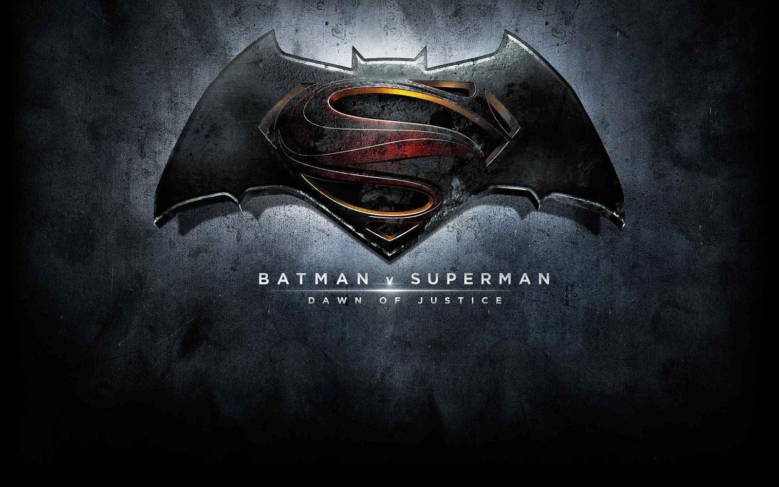 Batman vs Superman At the dawn of justice Logo Official Wallpaper 1600x1000