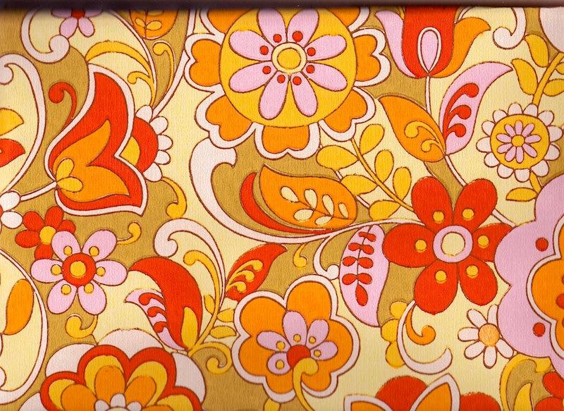 1970s wallpaper wallpapersafari - Papier peint vintage 70 ...