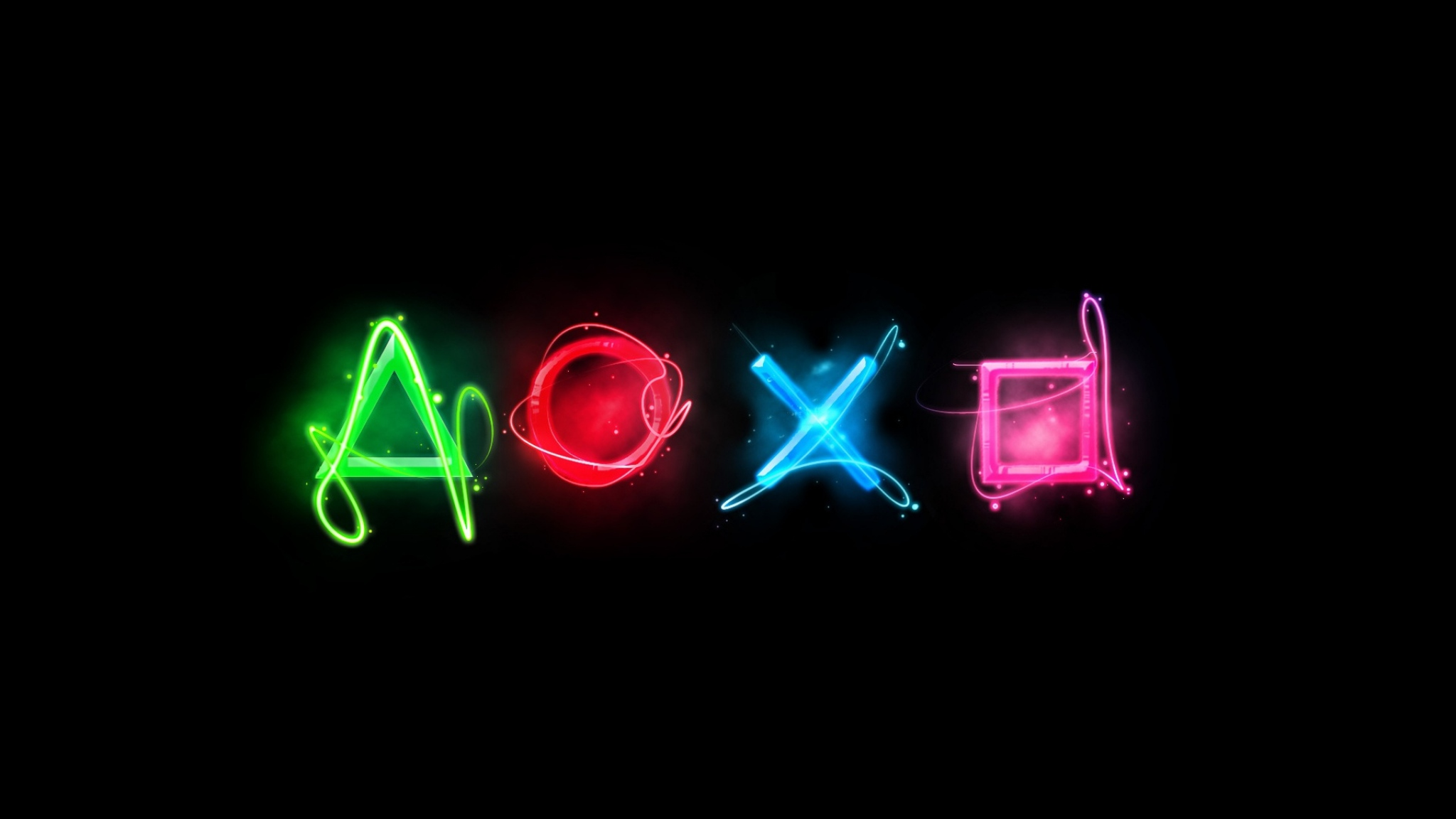 Wallpaper 2048x1152 Playstation Symbols Graphics Keys HD HD 2048x1152