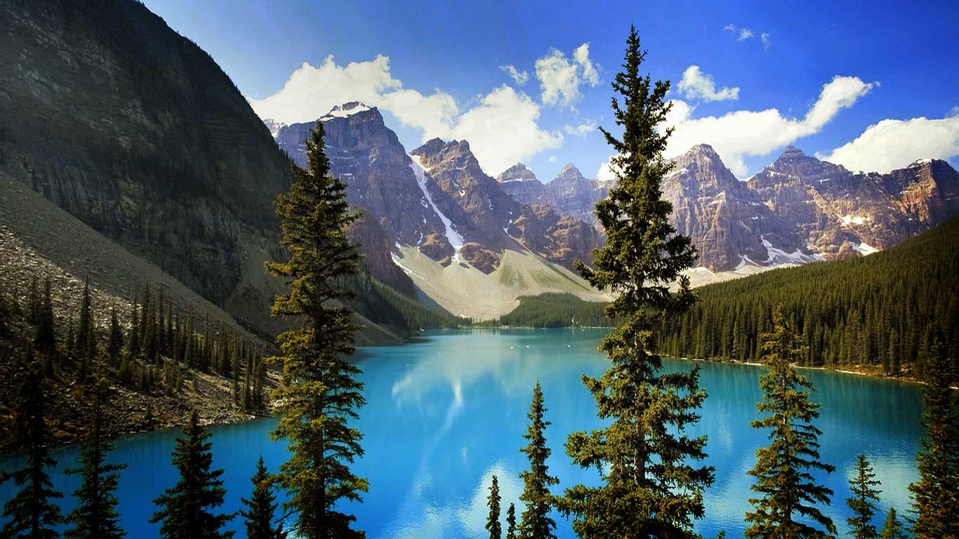 Bing Images   Moraine Lake Video   Moraine Lake in Banff National Park 1366x768
