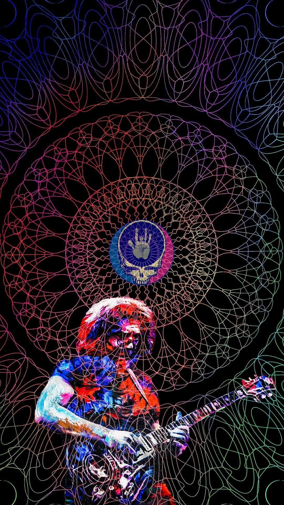 Jerry and Tiger phone wallpaper gratefuldead 1080x1920