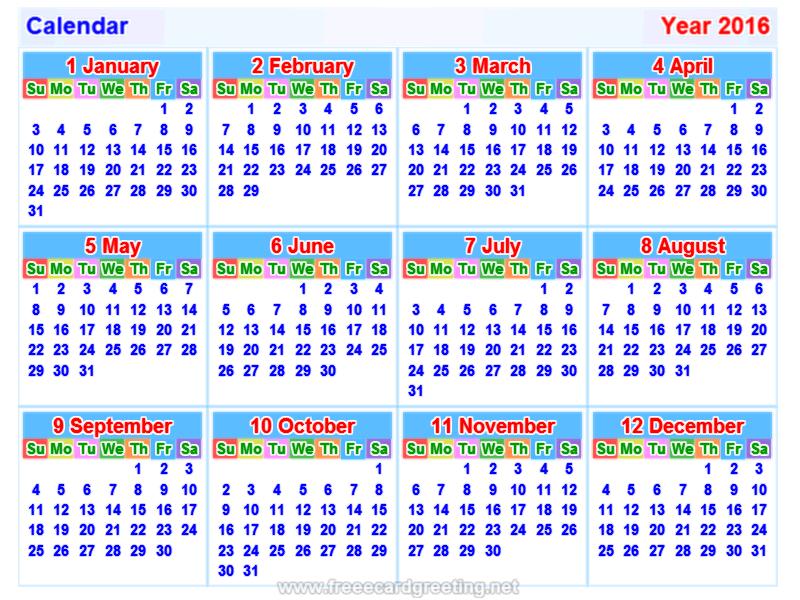 Calendar2016 800x600