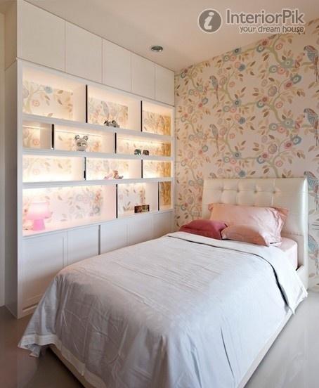 small bedroom wallpaper decoration effect chart appreciation Bedroom 454x552