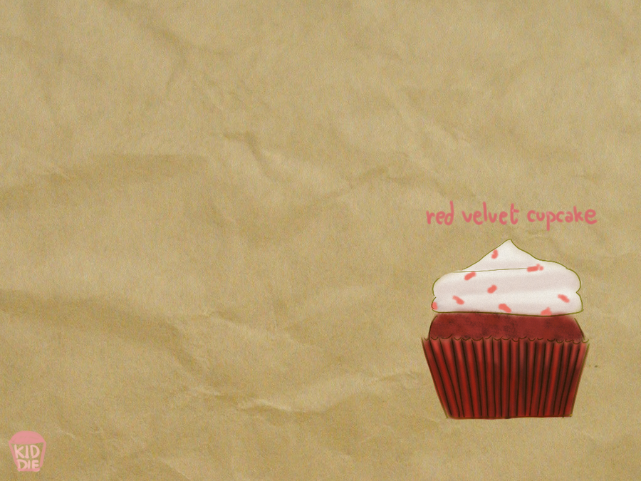 wallpaper Red velvet cupcake by kiddieerror 900x675