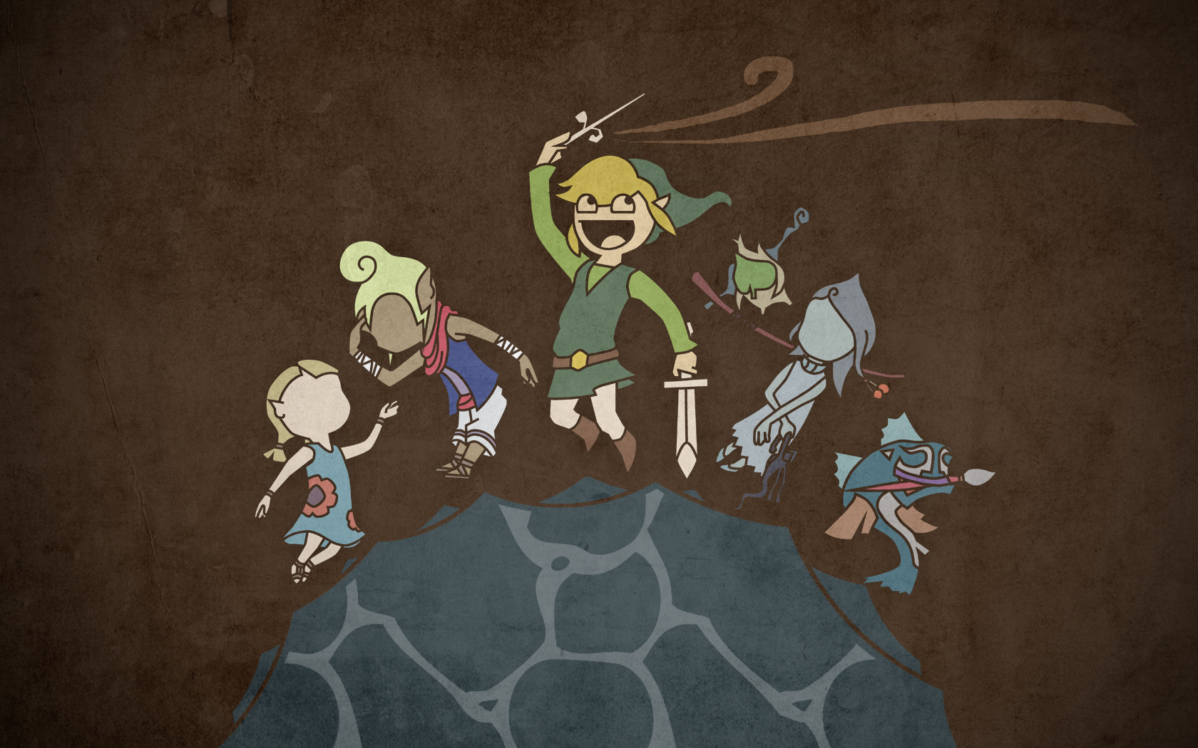 An Awesome Zelda Wallpaper I Designed A While Back [X Post from 1680x1050