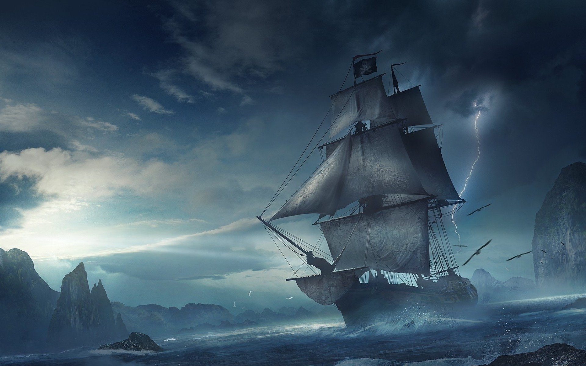 28 Pirate Ship HD Wallpapers Background Images 1920x1200
